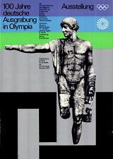 """Olympische Spiele 1972 München """"100 Jahre dt. Ausgrabung in Olympia"""" DIN A0"""