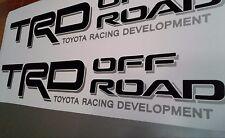 TRD Off Road, decal Sticker BLACK MATT TOYOTA TUNDRA TACOMA TRUCK (set)