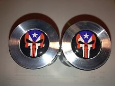 """Two hole pins Standard size. Punisher Puerto Rico Flag!  1/2"""" to 1-5/8"""""""