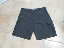 WRANGLER MEN'S OUTDOOR CARGO SHORTS SIZE (38) DARK GRAY LT WEIGHT WATER RESIST