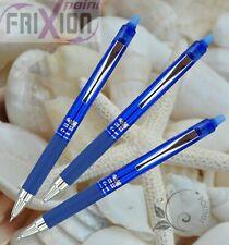 FREE SHIP 3 BLUE Pilot FRIXION POINT KNOCK LFPK-25S4 0.4 retractable ball pen
