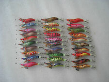 40pcs fishing lure ,squid jigs.1.5# .6cm ,4.5g, random colour mixed .