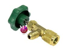 Rubinetto valvola con spillo cartuccia bombola usa e getta R600a R290 7/16Fx1/4M