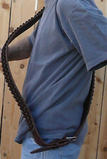Western BANDOLIER BANDOLERO Strap Belt 308 Caliber Ammo. Black Cowhide Leather