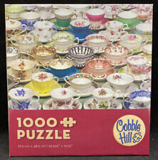 """NEW~ Cobble Hill """"Teacups"""" Jigsaw Puzzle"""