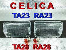 FRONT BUMPER MARK LIGHTS CLEAR FIT FOR  TOYOTA CELICA TA28 RA28 RA23 TA23