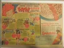 """Quaker Cereal Ad: LOA: """"Free Gifts"""" Premium from 1940's 11  x 15 inches"""