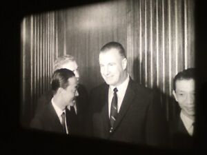 "16mm B&W SILENT - ""SPIRO AGNEW WITH FOREIGN DIGNATARIES"" ON A 3.5"" REEL"