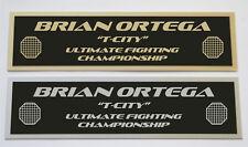 Brian Ortega UFC nameplate for signed mma gloves photo or case