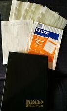 AL733) Unused Kenro ring binder & pack of 25 storage pages for negatives 35mm