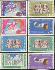 PARAGUAY 1966 razzi/Passeggiata NELLO SPAZIO/astronauti/LUNA/LA SCIENZA HUNGARIAN 8 V Set (b4409)
