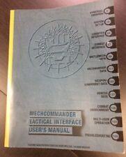 MECHCOMMANDER TACTICAL INTERFACE USER'S MANUAL