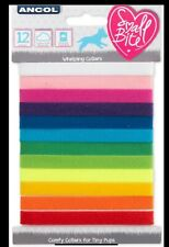 Ancol Whelping Collars Pup Litter Identification Puppy Rainbow Colours (Pack 12)