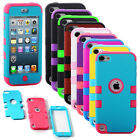 High Hybrid Impact Hard & Soft Rubber Case Cover For iPod Touch 5 5th Gen