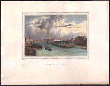 Charles Motte. Le Pont Neuf. Lithographie d'après Deroy. Vers 1830. Paris