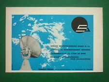 9/1968 PUB OMERA SEGID ARGENTEUIL VHF UHF RADAR CAMERA RECONNAISSANCE FRENCH AD