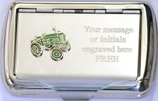 Green Tractor Tobacco Hand Rolling Ups Cigarette Tin Farming Gift