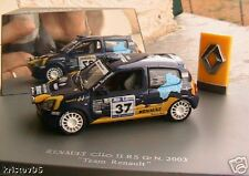 RENAULT CLIO II RS GR N 2003 TEAM RENAULT UH 1/43 RALLY
