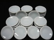 30x20 mm White Round Plates Dollhouse Miniatures Supply Food