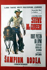JUNIOR BONNER STEVE MCQUEEN RODEO 1972 PECKINPAH RARE EXYU MOVIE POSTER