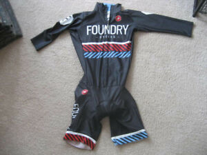 Foundry Full Bib/Time Trial Jersey by Castelli, Xlnt Condition, Unisex M/S