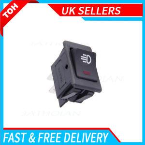 ON-OFF DPST Universal Car Rocker Fog Lamp Switch 4Pin, 12V 35A For Car Boat UK