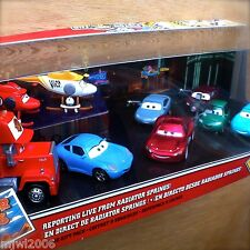 Disney PIXAR Cars 'REPORTING LIVE FROM RADIATOR SPRINGS!' CLASSIC diecast 9-Pack