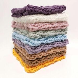 Newborn Baby Photo Props Backdrop Photography Basket Filler Soft Mat Rug Blanket