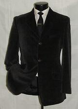 VERSUS by GIANNI VERSACE 3 button side vents men's Brown velvet jacket coat 36 R