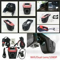 Car SUV HD Hidden Wifi Dual Lens DVR Video Recorder Rear Camera Night Vision &