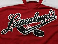 Leinenkugels Beer Hockey Jersey Shirt Mens XL X-Large 46-48 Red Chippewa Fall WI