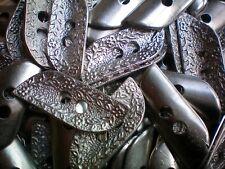 48mm Antique Silver Effect Flower Leaf Metal 2 Hole Coat Costume Buttons (XM31)