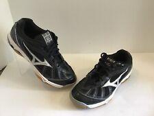 Mizuno Wave Hurricane Shoes Sneakers Womens Size 8.5 Wide Black