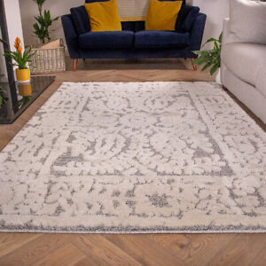 Large Grey Rugs for Living Room | Luxurious Scandi Style Rugs | Hall Runner Rugs
