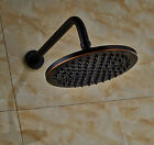 Wall Mount Shower Arm with Round Rainfall Top Shower Head Oil Rubbed Bronze