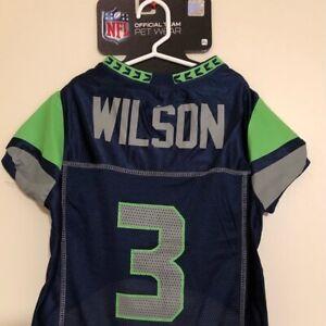 RUSSELL WILSON #3 Seattle Seahawks 2021 NFLPA Dog Jersey Blue, Sizes XS-XL