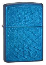 Zippo Windproof Iced Diamond Cerulean Blue Lighter # 28341, New In Box