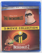 Disney The Incredibles 2-Movie Collection (Blu-Ray, Dvd, Digital, 2021) New