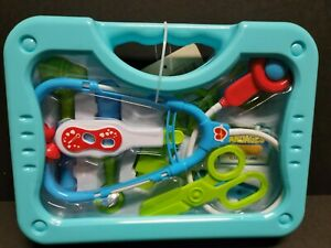 Toy Medical Kit Kids Pretend Play Doctor Kit Playset Carrying Case 9 Pieces New