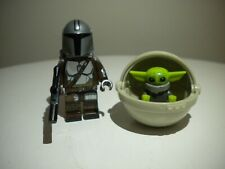 The Mandalorian & Baby Yoda minifigure with POD, lego compatible FREE SHIPPING!