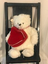 "Hallmark white cream From My Heart Teddy Bear red Heart plush 13"" Nwt"