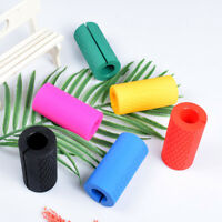 Thick Silicone Barbell Grips Home Gym Traning Grip Arm Wrap Bar Dumbbell Grip