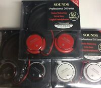 Headphones Over the Ear Pro DJ Series 5 ft Cord w/Mic *Noise Reducer* Bass Boost