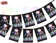 Dance Floor Disco Rectangular I Love 70's 80's 90's Theme Bunting Banner 12 flag