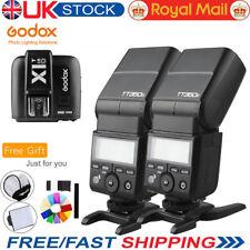 UK 2X Godox TT350O TTL 1/8000S Flash + X1T-O Transmitter For Olympus Panasonic