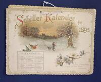 Schiller Kalender für 1895 Chromolithographie Farblitghographie Kunst js