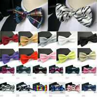 BMC 3PC Reversible Classic Flat Tip Style Self Tie Bowties for Men