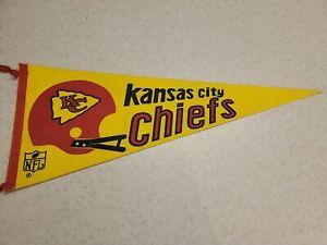 Vintage 1970's Kansas City Chiefs Felt Pennant Full Size