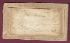 Mark Twain, American Author, Signature Clipped From Letter, COA, UACC RD 036