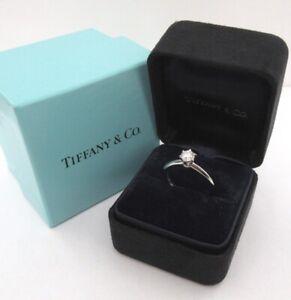 TIFFANY & Co. Platinum .32ct Diamond Engagement Ring 5